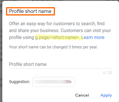 What Are Google My Business Short Names | Car Dealer GMB